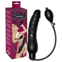 DILDO BLACK LATTICE BALLOON
